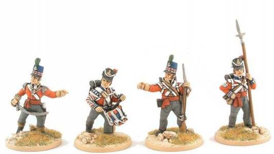 28mm Napoleonic British Infantry / painted by Steve Dyer