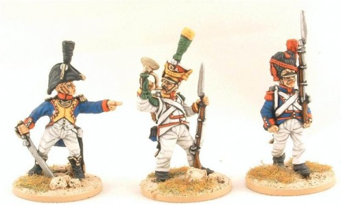 28mm Napoleonic Polish Infantry / painted by Steve Dyer