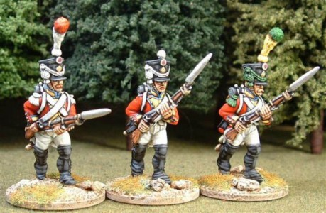 28mm Napoleonic French / painted as Swiss / painted by Steve Dyer