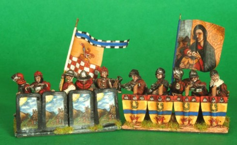 28mm Wars of the Roses Burgundian Crossbowmen / painted by Robin Shackleton