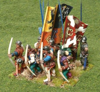 28mm Wars of the Roses Burgundian Infantry / painted by Robin Shackleton
