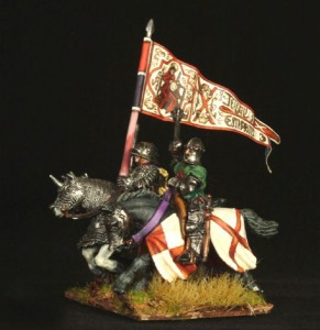 28mm Wars of the Roses Burgundian Knights / painted by Robin Shackleton