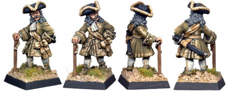 28mm WSS figure painted as a pirate (HS11) / painted by Kevin Dallimore