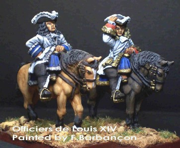 28mm WSS French mounted Officers / painted by F. Barbancon