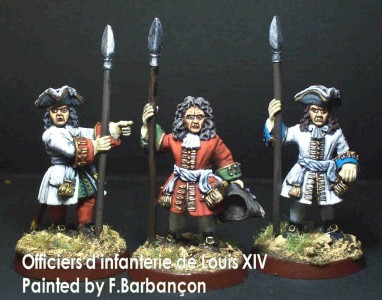 28mm WSS French Infantry Officers / painted by F. Barbancon