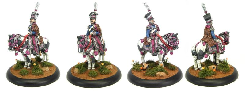 28mm Napoleonic Polish - Prince Josef Poinatowski (DWNP1) conversion work to figure and horse, / painted by Sascha Herm