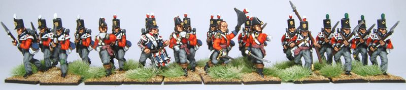 28mm Napoleonic British - 23rd Royal Welsh / painted by Artmaster Studios