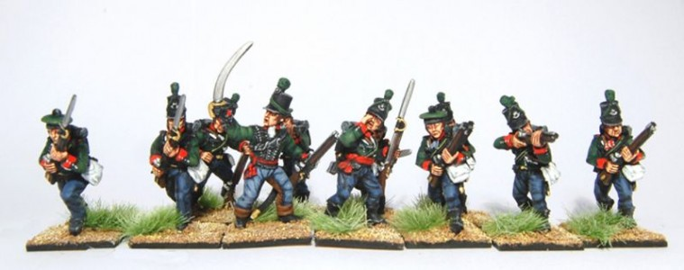 28mm Napoleonic British - 60th Riflemen /painted by Artmaster Studios