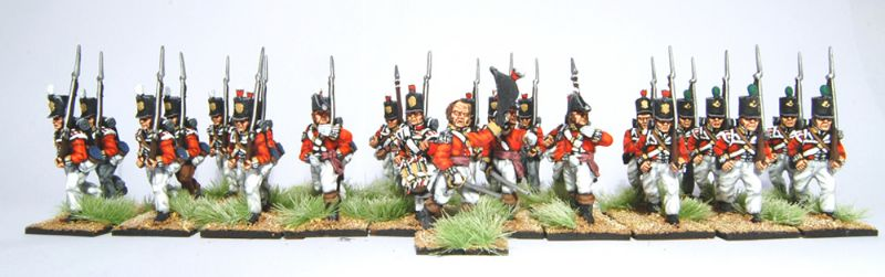 28mm Napoleonic British - 14th Bucks Buffs regt / painted by Artmaster Studios