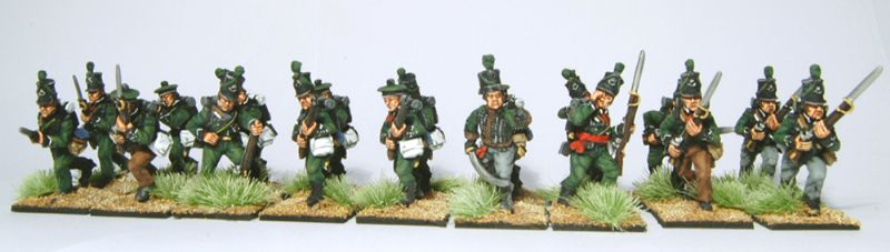 28mm Napoleonic British - 95th Riflemen / painted by Artmaster Studios