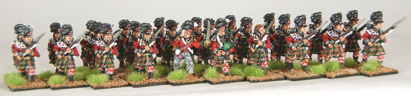 28mm Napoleonic British - Cameron Highlanders / painted by Artmaster Studios