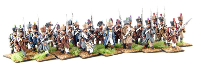 28mm Napoleonic French Infantry in Greatcoat / painted by Artmaster Studios
