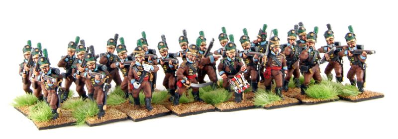 28mm Napoleonic Portuguese Cacadores / painted by Artmaster Studios