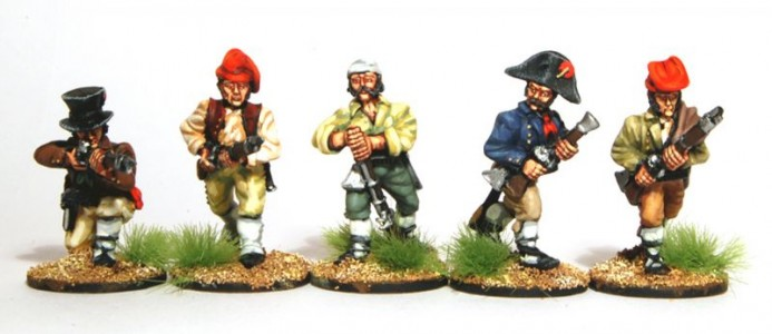 28mm Napoleonic Spanish Guerillas / painted by Artmaster Studios.