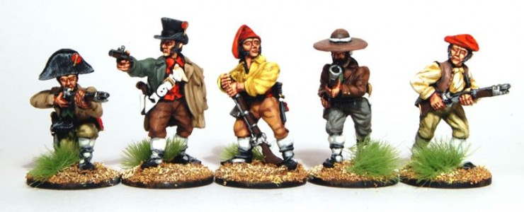 28mm Napoleonic Spanish Guerillas painted by Artmaster Studios