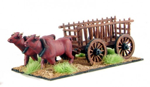28mm Medieval wagon /painted by Artmaster Studios