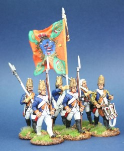 40mm AWI Hessian Fusiliers / Figures painted by Steve Dyer. Flag by john Hutchinson.
