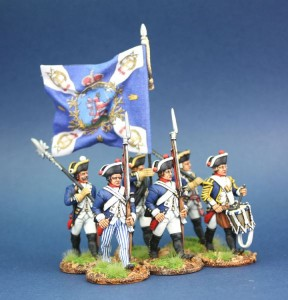 40mm AWI Hessian Musketeers / Figures painted by Steve Dyer. Flag by John Hutchinson.