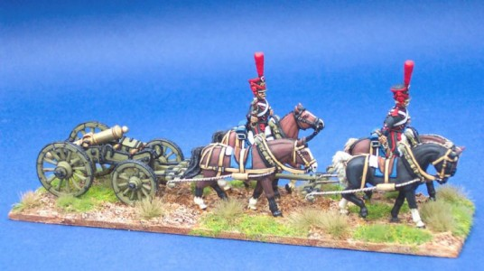 28mm French Limber Set  / painted by Steve Dyer