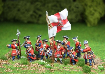 King James ll 1st Foot Guards / painted by Steve Dyer, flag by John Hutchinson