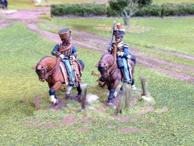 28mm Napoleonic Major General Vandeleur + aide (BNP4 + BNC59/LT3B) /painted by Paul Armer from Ray King's collection.