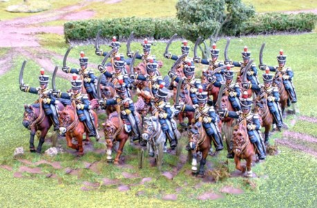 28mm Napoleonic British 12th Light Dragoons / painted by Paul Armer from Ray King's collection