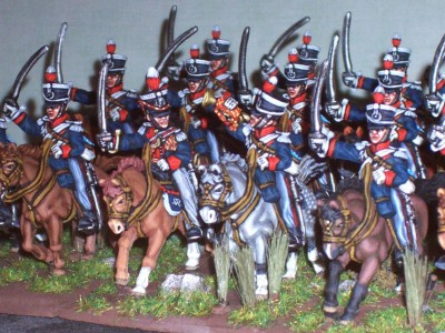 28mm Napoleonic British - 16th Light Dragoons / painted by Paul Armer from Ray King's collection