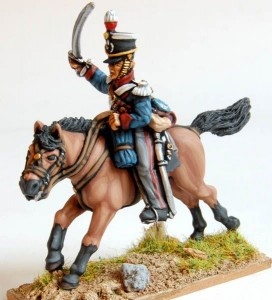28mm Napoleonic British Light Dragoon (BNC58/LT5A) / painted by El Mercenario
