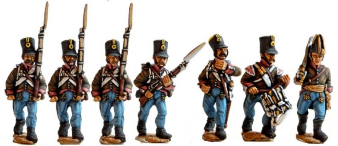 28mm Napoleonic Austrian Grenz / painted by El Mercenario