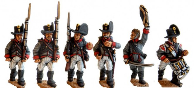 28mm Napoleonic Austrian Landwehr / painted by El Mercenario