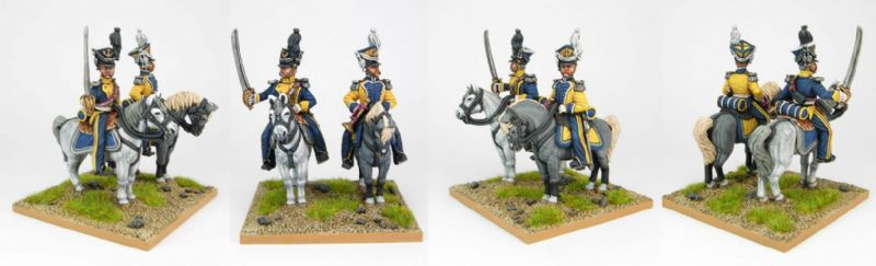 28mm Napoleonic French Vistula Lancers - Officer & Trumpeter. / painted by Sascha Herm, using the DWNC Polish codes.