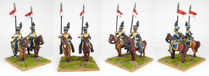 28mm Napoleonic French Vistula Lancers. / painted by Sascha Herm, using DWNC Polish codes.
