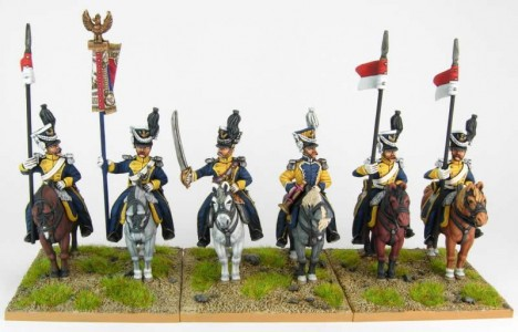 28mm Napoleonic French Vistula Lancers group. / painted by Sascha Herm, using DWNC Polish codes.
