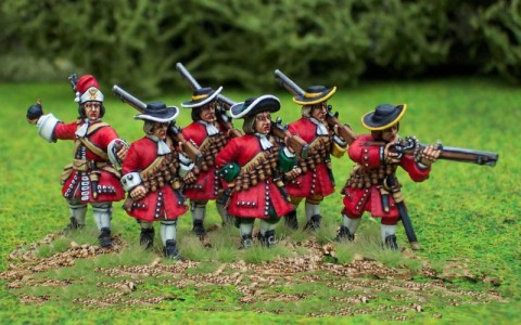 Matchlock Musketeers with Grenadier / painted by Steve Dyer.