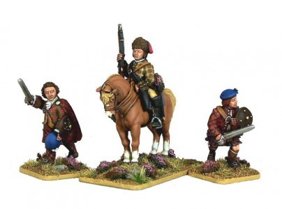 28mm Jacobite Rebellion 1745. Jacobite Highlanders painted by Andrew Taylor.