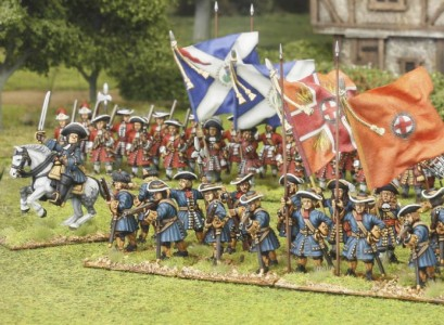 28mm Late 17th Century group / painted by El Mercenario, flags by John Hutchinson.