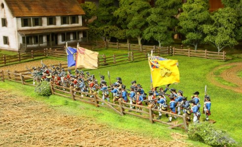 40mm AWI Continentals. Smallwood's Maryland and 2nd New Hampshire regiments. Generals / Flags by John Hutchinson