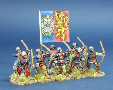 28mm Wars of the Roses Archers / painted by Chris Lawton