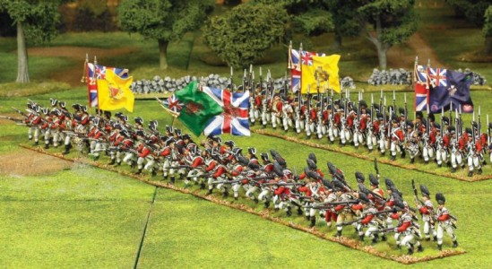 40mm British advancing Flags by John Hutchinson