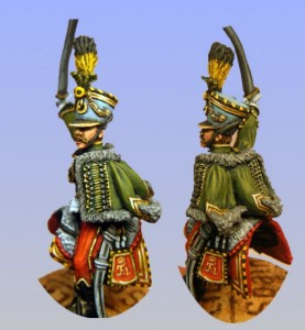 28mm Napoleonic Austrian Hussar Officer (ANC17 & LT3A) / painted by Bob Cater.