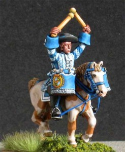 28mm Late 17th Century Kettle Drummer (LSC24 & HV2A) /  painted by Luciano Leni