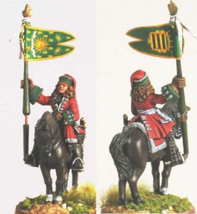 28mm WSS French Dragoon Standard Bearer, pic1 (FSC31 & LT1B) / painted by Luciano Leni