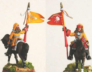28mm WSS French Dragoon Standard Bearer, pic4 (FSC31 & LT2B) / painted by Luciano Leni