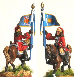 28mm WSS French Dragoon Standard Bearer, pic5 (FSC31 & LT2A) / painted by Luciano Leni