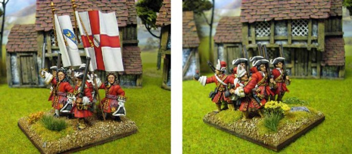 28mm WSS Earl of Derby's Regiment of Foot / Painted by Brian Phillips