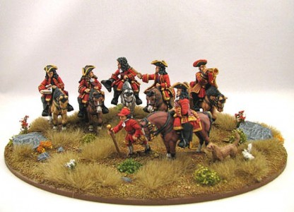 28mm WSS - The Duke of Marlborough, Sir William Cadogan, Lord Cutts of Gowran, General Armstrong and other Senior Officers / painted by Brian Phillips.