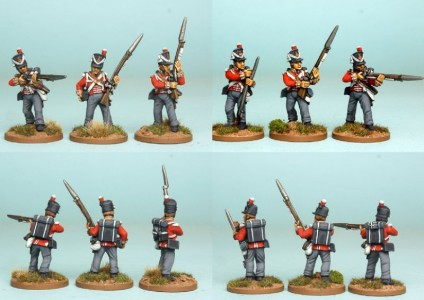 28mm British Reinforcement pack BNRPK12 (front & rear view) / painted by Richard Abbott