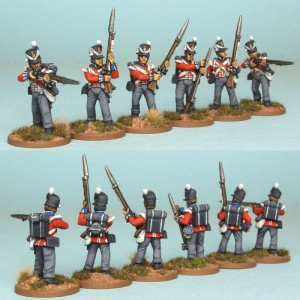 28mm British Reinforcement pack BNRPK13 (front & rear view) / painted by Artmaster Studios