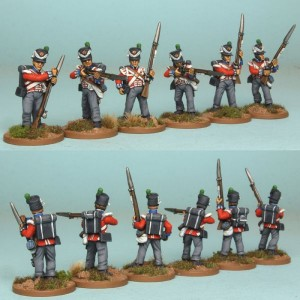28mm British Reinforcement pack BNRPK14 (front & rear view) /  painted by Richard Abbott