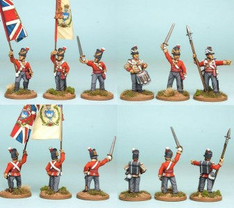 28mm British Reinforcement pack BNRPK15 (front & rear view) / painted by Richard Abbott